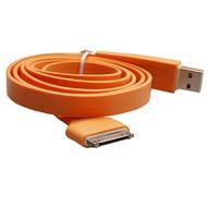 Konkis Flat Lade- und Datenkabel (30Pin) für iPhone/ iPad, orange