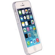 Krusell HardCover Boden für Apple iPhone SE, Weiß Klar