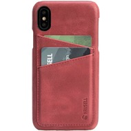 Krusell Sunne 2 Card Cover 61192 für Apple iPhone X, Vintage Red