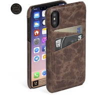 Krusell Tumba 2 Card Cover 61108 für Apple iPhone X, Brown Marble