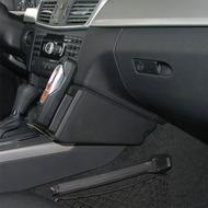 Kuda Lederkonsole für MB E-Klasse W212 03/ 2009- Echtleder schwarz