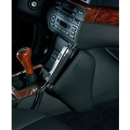 Kuda Lederkonsole BMW 3er /  E46 ab 98 + Cabrio / Touring ab 06/ 2000 / Compact ab 6/ 01, Kunstleder schwarz