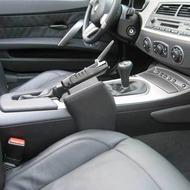 Kuda Lederkonsole für BMW Z4 ab 03 (auch für 6 Gang) Echtleder schwarz