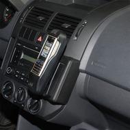 Kuda Lederkonsole für VW Polo 9N ab 11/ 01-06/ 09 (Montage oben) Mobilia /  Kunstleder schwarz