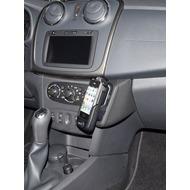Kuda Lederkonsole für Dacia Sandeo ab 03/ 2012 Echtleder schwarz