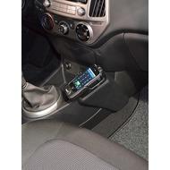 Kuda Lederkonsole für Hyundai i20 ab 09/ 2012 Echtleder schwarz