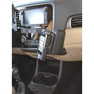 Kuda Lederkonsole für Mitsubishi Outlander ab 10/ 2012 Echtleder schwarz