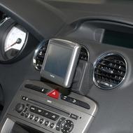 Kuda Navigationskonsole für Navi Peugeot 308 ab 09/ 2007 & RCZ Mobilia /  Kunstleder schwarz