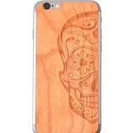 Lazerwood Sugarskulls cherry - iPhone 6 Skins Echtholz-Klebecover - Kirschholz