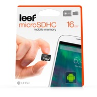 Leef Micro-SD Karte 16GB mit Adapter for Universal schwarz