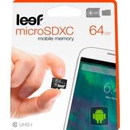 Leef MicroSD Speicherkarte mit Adapter 64GB schwarz