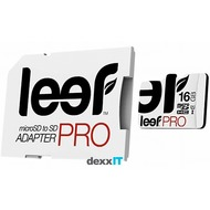 Leef microSDHC Pro - 16GB - Class 10 - UHS-I with SD Adapter