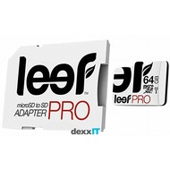 Leef microSDXC Pro - 64GB - Class 10 - UHS-I with SD Adapter