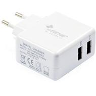 LEICKE Dual USB-Ladegerät mit 2x5 V - 2,1/ 1,0A