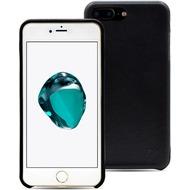 LEICKE MANNA UltraSlim Hülle Apple iPhone 7 Plus Echtleder - schwarz