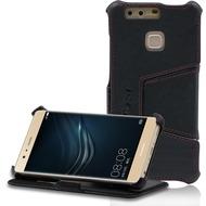 LEICKE MANNA UltraSlim Hülle für Huawei P9 - Nappaleder - schwarz