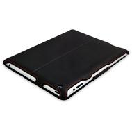 LEICKE MANNA UltraSlim Schutzhülle für Apple iPad 2/ 3/ 4 Kunstleder schwarz