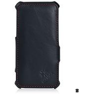 LEICKE MANNA UltraSlim Schutzhülle für Apple iPhone 6/ 6s, Leder, schwarz