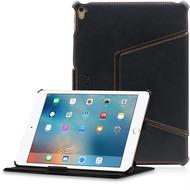 LEICKE MANNA UltraSlim Schutzhülle für das iPad Pro 9.7 Echtleder, schwarz