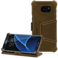 LEICKE MANNA UltraSlim Schutzhülle Samsung Galaxy S7 Edge, braun