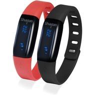 LEICKE Sharon Activity Tracker, inkl. Armbänder in schwarz & rot