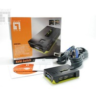LevelOne 2-Port USB KVM Switch - (KVM-0222)