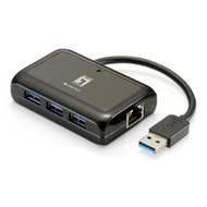 LevelOne Gigab.USB Netzwerk Adapter m.USB Hub - (USB-0502)
