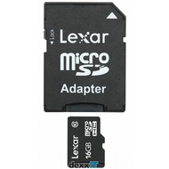 Lexar microSDHC - 16GB - inkl. SD-Adapter - Class 10