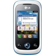 LG C330 linkz, weiß-blau