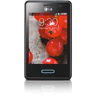 LG E430 Optimus L3 II, black metal brushed