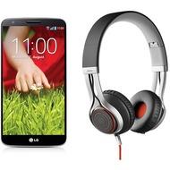 LG G2 16GB, schwarz (Telekom) + Jabra Stereo Headset REVO, schwarz