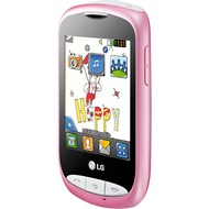 LG T310 Cookie Style, pink-weiß
