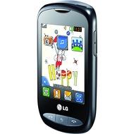 LG T310 Cookie Style, silber-schwarz