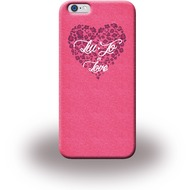 Liu-Jo Glitter Heart Soft Case - TPU Cover für Apple iPhone 6/ 6S - Pink
