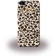 Liu-Jo Leopard Soft Case - TPU Cover für Apple iPhone 5/ 5S/ SE - Beige