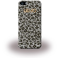 Liu-Jo Leopard Soft Case - TPU Cover für Apple iPhone 5/ 5S/ SE - Grau
