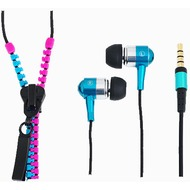 LogiLink In-Ear Stereo Headset Zipper, pink-blau