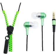 LogiLink In-Ear Stereo Headset Zipper, neon gr�n