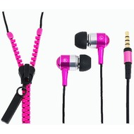 LogiLink In-Ear Stereo Headset Zipper, neon pink