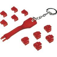 LogiLink RJ45 Port Blocker, 1 Schlüssel und 10 Schlösser