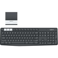 Logitech® K375s Multi-Device Wireless Keyboard and Stand Combo - GRAPHITE/ OFFWHITE - 2.4GHZ/ BT (DE)