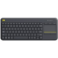 Logitech® Tastatur K400 Plus - Wireless - Unifying - Touchpad, schwarz