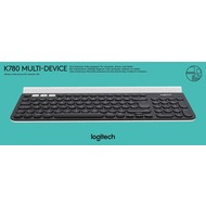 Logitech® Tastatur K780 - Multi-Device - Wireless - Unifying - Bluetooth Schwarz - Ladestation