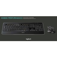 Logitech® Tastatur/ Maus MX800 - Wireless - Unifying - Laser Schwarz - 1600 dpi