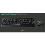 Logitech® Tastatur/ Maus MX800 - Wireless - Unifying - Laser Schwarz - 1600 dpi