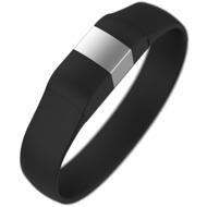 Lumdoo Classic Silikon Armband, Lightning USB Daten-& Ladekabel, medium, black