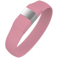 Lumdoo Classic Silikon Armband, Lightning USB Daten-& Ladekabel, medium, pink