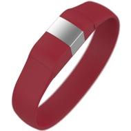 Lumdoo Classic Silikon Armband, Lightning USB Daten-& Ladekabel, medium, red