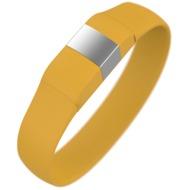 Lumdoo Classic Silikon Armband, Lightning USB Daten-& Ladekabel, medium, yellow