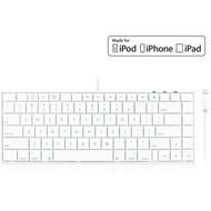 Macally iKEYLT2, Tastatur für iPad mit Lightning-Anschluss, US Layout